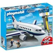 Playmobil 5261 Avion D Pasajeros Y Mercancia Ciudad Retromex