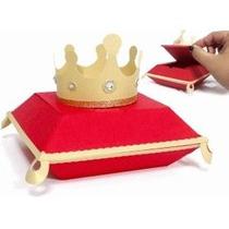 30 Cajas Corona Rey Reina. Xv Años Mesa De Dulces Recuerdo