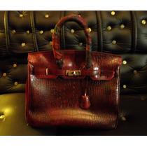 Bolso Birkin 35 Vintage Piel Cocodrilo Buen Estado Hermes Lv