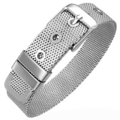 Pulsera de acero Inox Diseño Cinturon de Malla 12mm