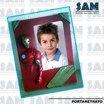 Portaretrato En Resina Iron Man Foto Familia Fiesta Recuerdo
