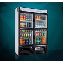 Refrigerador Vertical Exhibidor De 4 Puertas 36 Pies Cubicos