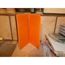 Carpeta De Bolsillo Naranja Mide 22.5 X 11 Cm