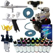 Aerografo Profesional Kit Completo Master Pm0