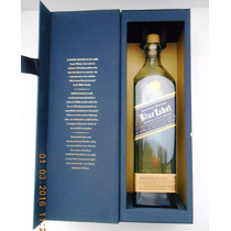 Johnnie Walker Blue Label Botella Vacia C/estuche Jgo 4 Pzas