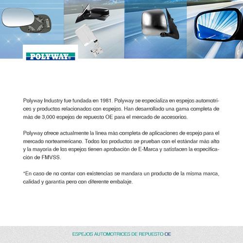 Espejo Chevrolet Chevy C2 Negro 2004  2005  2006  2007  2008 Foto 6