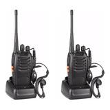2 Radios Walkie Talkie Ft-777s Uhf 2 Vias C/ Manos Libres