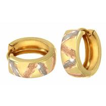 7a393f072847 Arracadas Huggies Con Líneas Diamantadas Oro Florentino 14k en venta en  Agrícola Pantitlan Iztacalco Distrito Federal por sólo   3550