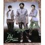 Aut�grafo Jonas Brothers 3x Joe Kevin Nick Con Coa Foto 8x10