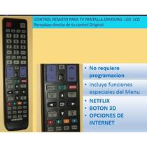 Control Remoto Tv Samsung Pantalla Led Lcd Smart Tv 3d