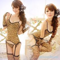 Baby Doll Animal Print (leopardo) Conjunto De 6 Piezas. Sexy