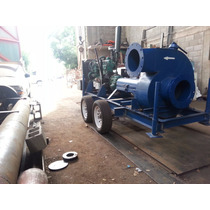 Bomba Centrifuga 12 Plg Riego / Motor Diesel / Remolque