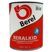 Pintura Esmalte. Beralkid 412-4 Castaño (1 Lt) Berel.