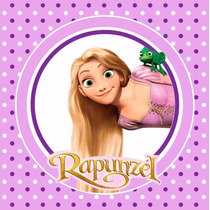 Kit Imprimible Rapunzel Enredados Invitaciones Candy Bar 2x1
