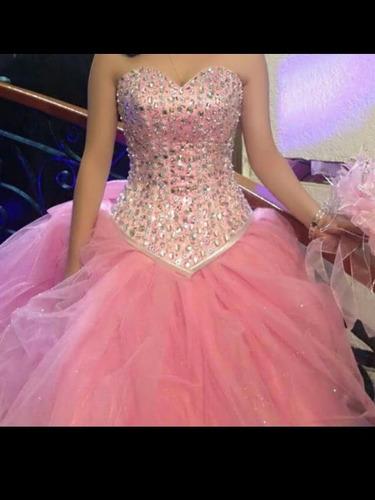 Vestido De Xv Años Color Rosa Pastelun Uso En Venta En