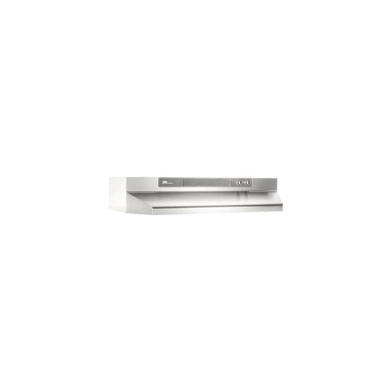 Broan intermedio 30 campana de cocina convertible for Limpiar filtros campana aluminio