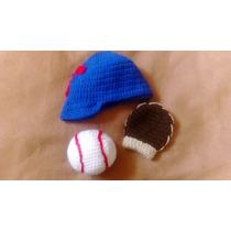 Conjuntos Tejidos De Beisbol Recien Nacido 0-3 Meses