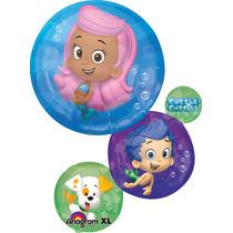 Globo Bubble Guppies Paq 3 Pzas Jumbo 28 Pulgadas Para Helio
