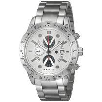 Haste St1200901 Reloj Analógico Para Hombre Redondo Blanco/p