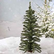Darice Artificial De Navidad Árbol De Pino En La Madera Base