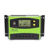 Controlador De Carga Solar 40a 12 Y 24v Usb 5v Lcd Pwm