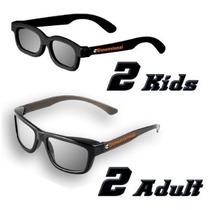 Ed Familia 4 Paquete Cine 3d Sin Gafas Kit Para Televisores