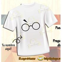 Playera Harry Potter Lentes Y Cicatriz ¡ Personalízala !