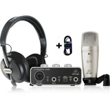 Behringer Kit Con Interfase, Microfono C1, Cable, Audifonos