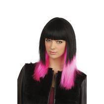 Jessie J Traje - Señoras Negro Rosa Short Cut Blunt Bob