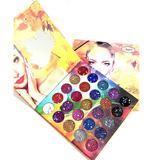 Paleta De Sombras Glitter Para Ojos Maquillaje 25 Glitters