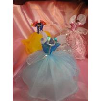 Vestidos Princesas + 2 Pares De Zapatillas De Regalo