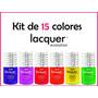 Kit Lacquer Evolution 15 Colores 8 Ml ( Gel Gelish Esmalte )