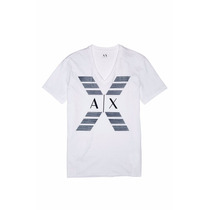 Playera Armani Exchange Ax Talla M Color Blanca Cuello En V