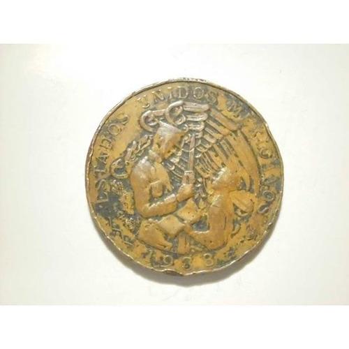 c7be9b0c2ee Medalla Reconocimiento Al Soldado Mexicano 1938 Cobre en venta en ...