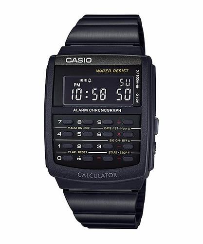 8a35a75fc0c1 Reloj Casio Ca506 Calculadora 8dig Dorado   Negro Wr Vintage en ...