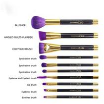 Set/kit Brochas Y Pinceles De Maquillaje 10 Pz Púrpura