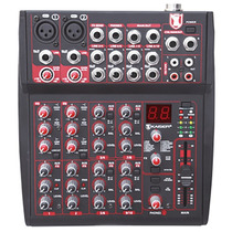 Mezcladora 10 Canales Amplificada Profesional Led