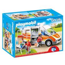 Playmobil Ambulancia Con Luces Mod. 6685 Pzs. 54