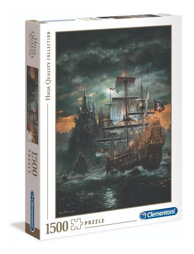 Barco Pirata Isla Calavera Rompecabezas 1500 Pz Clementoni