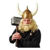 Casco Vikingo C/cuernos De Plástico Armable Disfraz Adulto