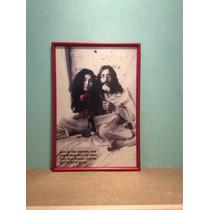 Litografía Cuadro Marco John Lennon Beatles Vintage Retro