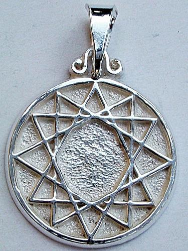 a66313d4501a Medalla Dije De Estrella De 12 Puntas En Plata Fina.925 en venta en ...