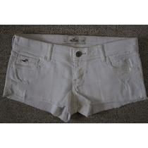 Shorts De Jean Blancos Mujer Hollister Talla 7, 28 Mx
