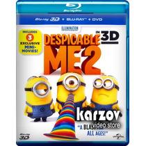 Mi Villano Favorito 2 Dos Pelicula En Blu-ray 3d + Bd + Dvd