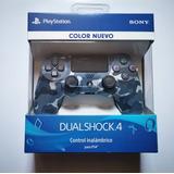 Control Ps4 Azul Camu Dualshock®4 Modelo V2 Original Nuevo