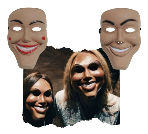 Máscara La Purga 2pz Hombre Mujer Disfraz Pareja Halloween