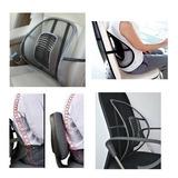 Respaldo Asiento Confort Lumbar Para Auto O Silla Oficina Cojín Con Soporte Relajante Ciatica Corrige Y Mejora Postura