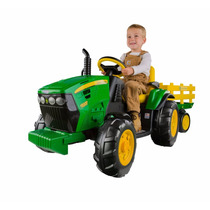 Peg Perego John Deere Ground Force Tractor Trailer Para Niño