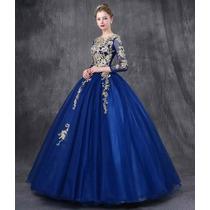 Hermoso Vestido Azul Rey Xv Años Envio Gratis Ml7010 En