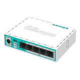 Router Mikrotik Routerboard Hex Lite Rb750r2 Blanco/turquesa